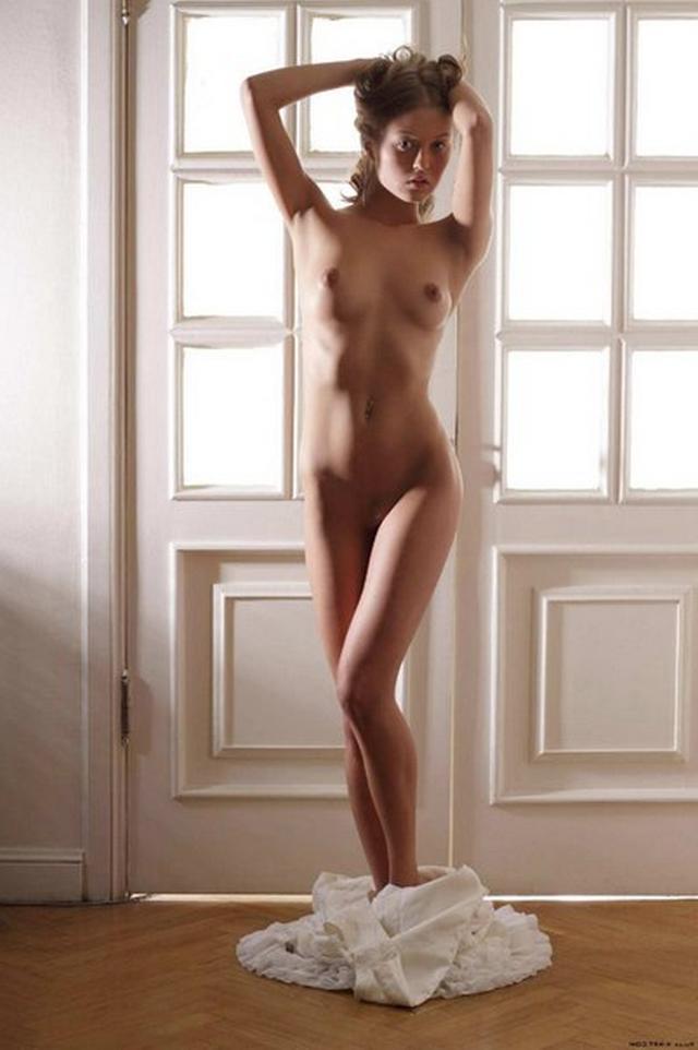 Голая пластичная девушка  и в гостиной - секс порно фото